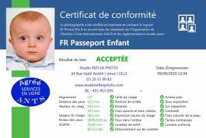 certificat conformité photo identité bébé